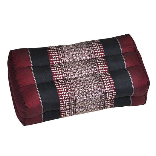 Cojín, almohada, rojo y negro, Flores, corta, Yoga Cojín de ...