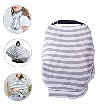 5 in 1 Nursing Breastfeeding Feeding Cover Scarf Baby Car Seat Canopy Apron US
