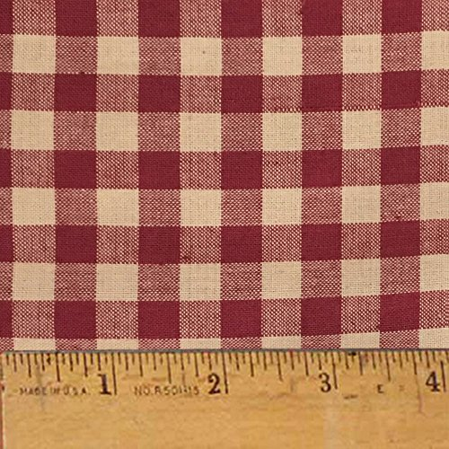 Rustic Red 5 Homespun Cotton Plaid Fabric by JCS - Sold by the Yard