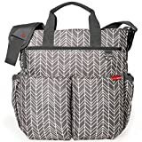 Baby : Skip Hop Messenger Diaper Bag With Matching Changing Pad, Duo Signature, Grey Feather