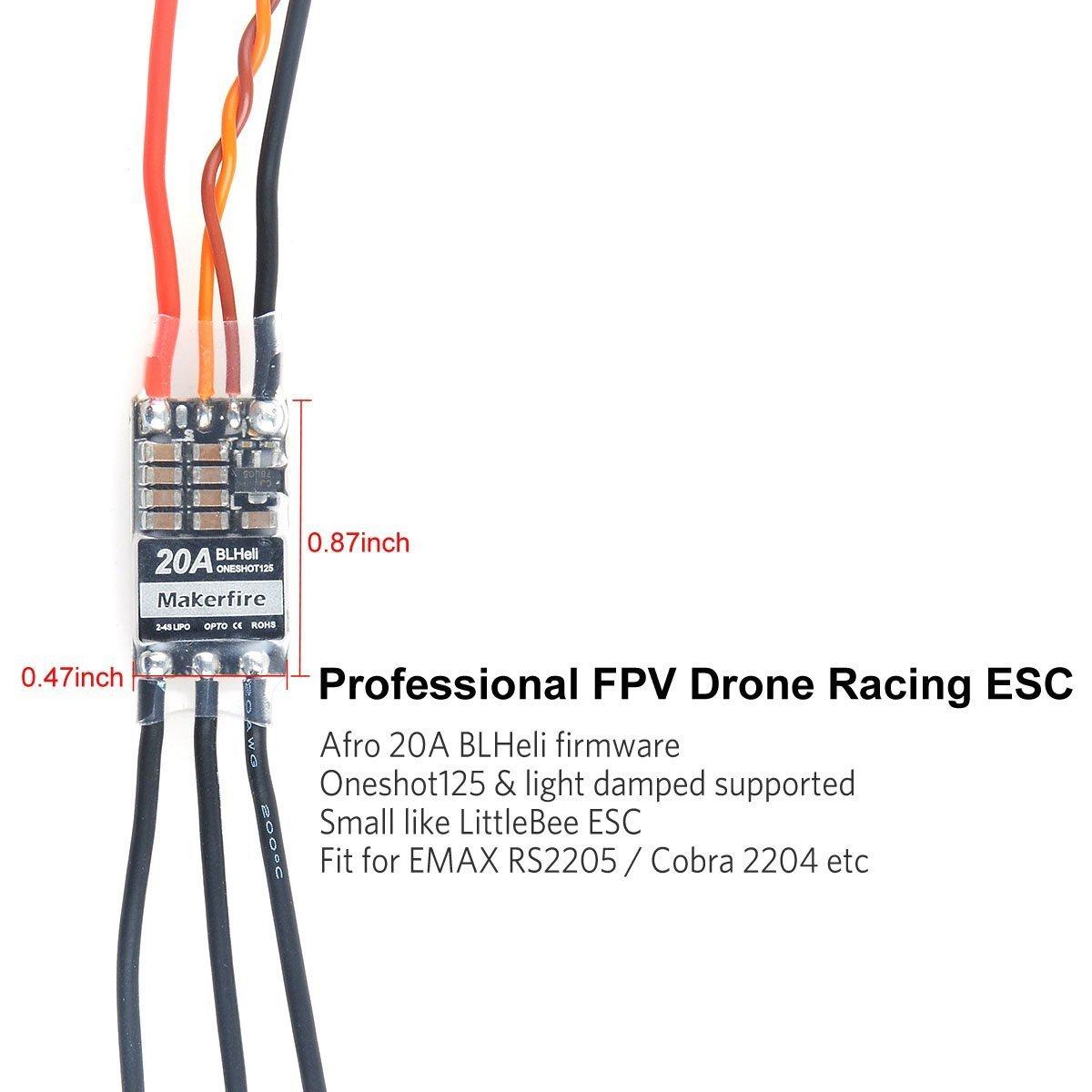 Strange Makerfire 4Pcs Esc 20A Blheli Brushless Speed Controller For Qav250 Wiring 101 Eattedownsetwise Assnl