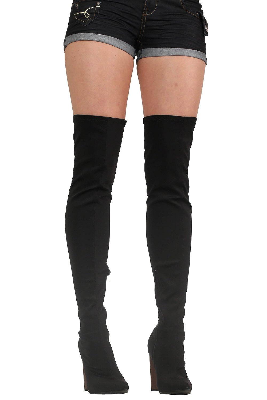 überlegene Materialien neuer & gebrauchter designer Rabatt zum Verkauf Absätzen Neopren Stiefel Kniehohe die über Pilot ...