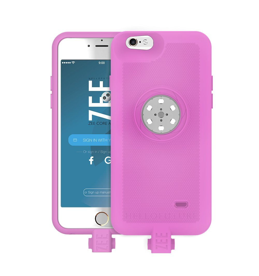 Battery case iPhone 6/6s/7/8- with Built-In 128GB Memory+Battery 2600mAh+Wireless Charging - Pink(Apple Certified) by HELLO ZEE (Image #5)
