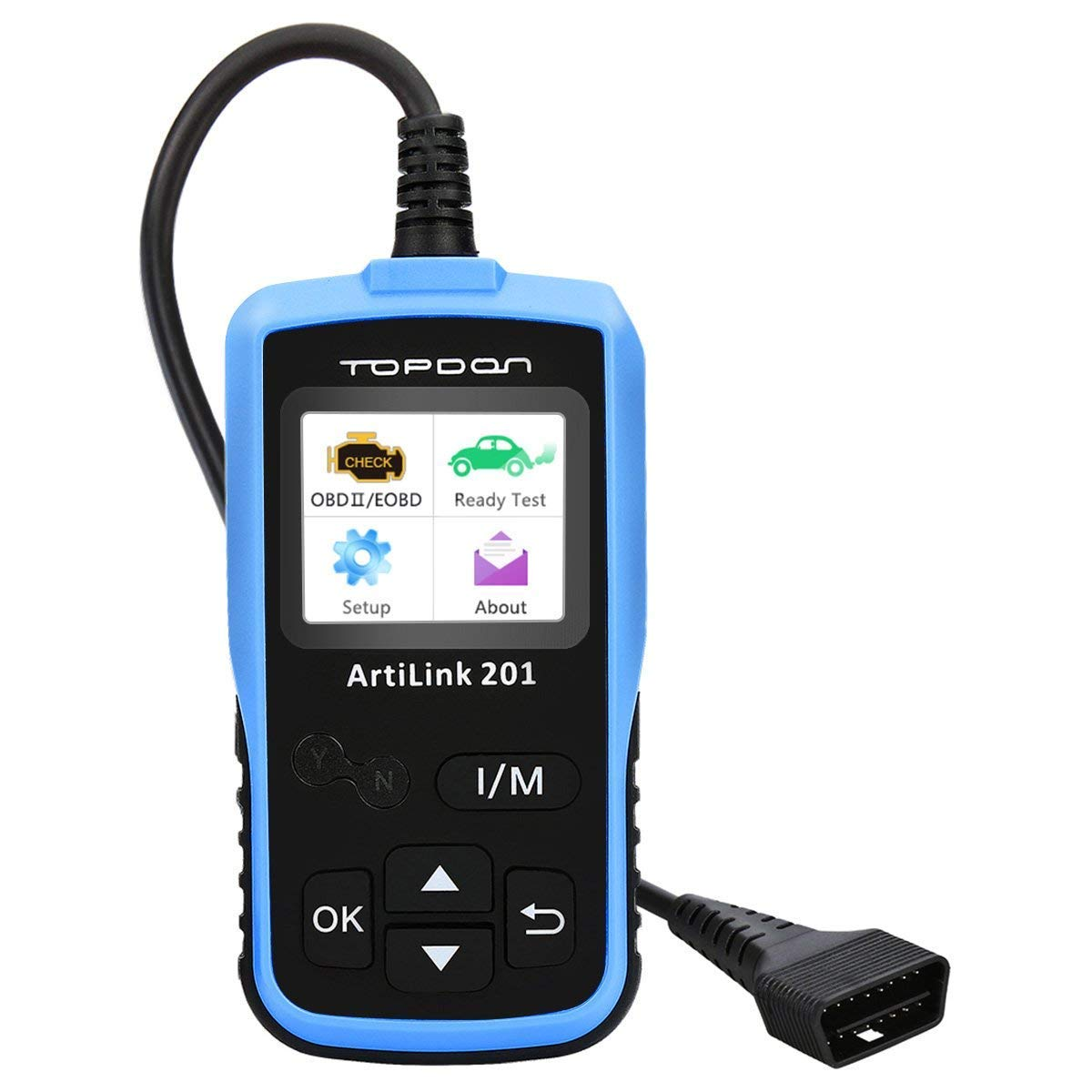 TT TOPDON AL201 Automotive OBD2 Scanner Updatable Fault Code Reader for I/M Readiness Test and Turn Off MIL