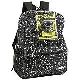 ReBoot Boys' Mad Labs Splatter Lines Backpack with Bluetooth Spaeker Kid's School