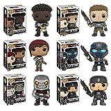 Pop! Games: Gears of War Marcus Fenix, Armored JD Fenix, Clayton Carmine, Armored Kait Diaz, Armored Del Walker, Locust Drone! Vinyl Figures Set of 6