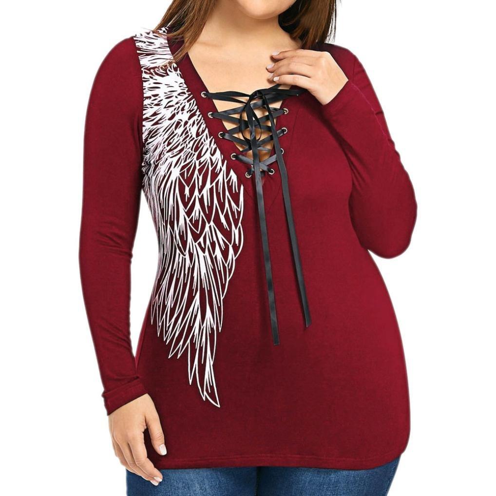 Billila Large Size Womens Skull Lace Off Shoulder T-shirt Long Sleeve Tops Blouse Billila-S