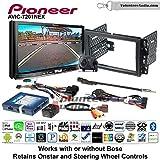 Pioneer AVIC-7201NEX Double Din Radio Install Kit with GPS Navigation Apple CarPlay Android Auto Fits 2007-2013 Chevrolet Silverado, Avalanche, 2008-2013 Express
