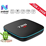 2019 Model Android TV Box,T95 R1 Android 7.1 Boxes with 2GB RAM 16GB ROM Quad-Core A53 Processor 2.4GHz WiFi 4K Ultra HD Smart TV Box