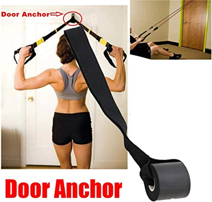 New Resistance Exercise Bands Advanced Door Anchor Black NEW TYPE