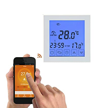 Onepeak Termostato programable Función WiFi Controlador de temperatura de calefacción eléctrica Pantalla LCD Termóstato de pantalla