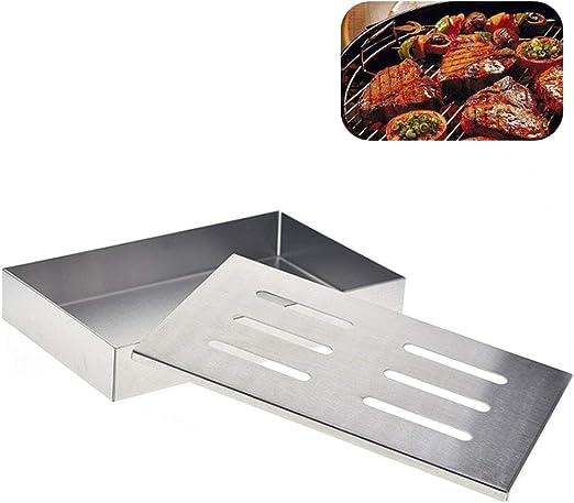 HINMAY Caja de ahumador para Carne, Caja de Ahumado para Barbacoa ...