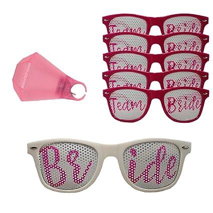 9f10ce8fdd33 Bridal Shower Bachelorette Party Supplies - Five Team Bride Sunglasses