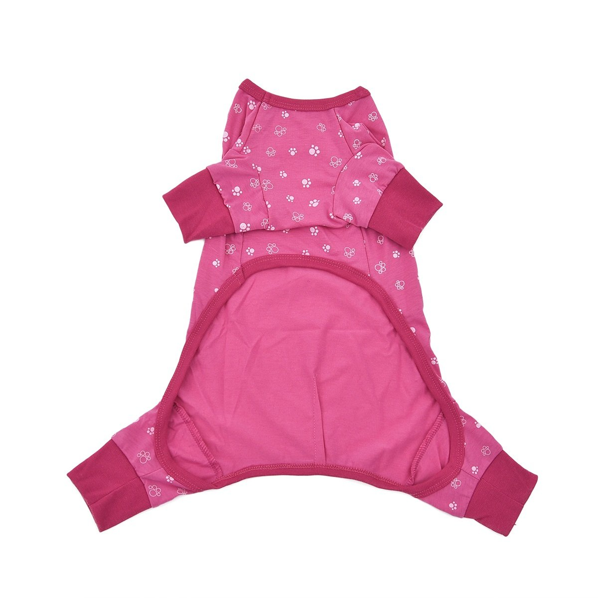 Perro Ropa Caliente Pet Pijamas Suave Cachorro Traje Transpirable Cat Jumpsuit Pet Supplies LUYIASI Color : Pink , Tama/ño : S