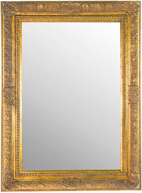 Large Antique Gold Ornate Embossed Shabby Chic Framed Bevelled Wall Overmantle Mirror 46inch X 34inch 117cm X 86cm Stunning Quality Ready To Hang Itv Show Supplier Amazon Co Uk Kitchen Home