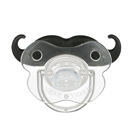 Goolsky Chupete de Silicona Bigote Divertido Chupete sin BPA para Recién Nacido Bebé
