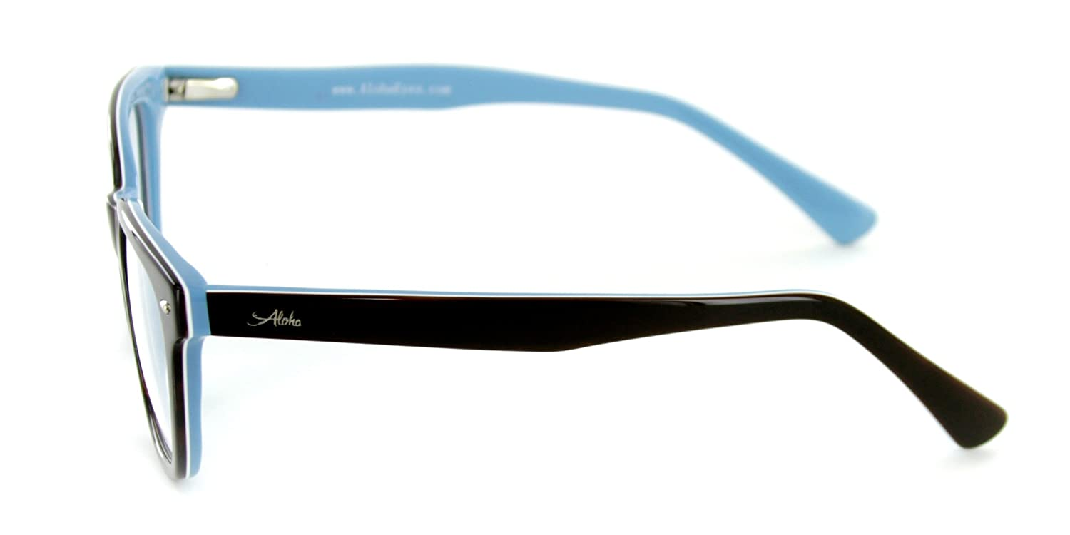 bf70229e9b Amazon.com  Aloha Eyewear Tek Spex 1010 Men s Photo-Chromatic Progressive  Bifocal Reader Glasses Sunglasses (Brown Blue Regular Tint +1.50)  Health  ...
