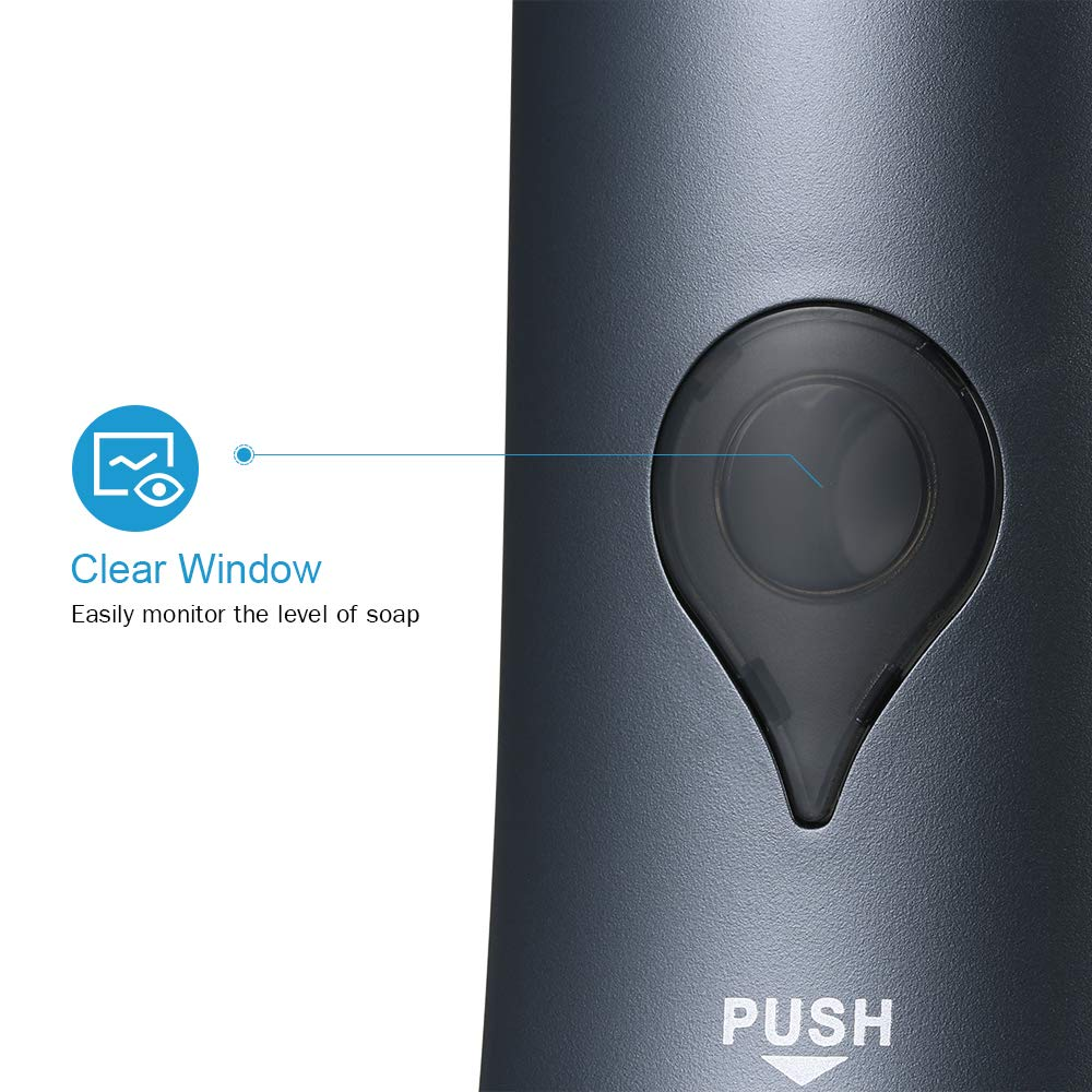 Blusea Dispensador de jabón Manual CHUANGDIAN 300ml Sin taladrador Montado Pared Gel de Ducha para baño Champú líquido Desinfectante - Grey