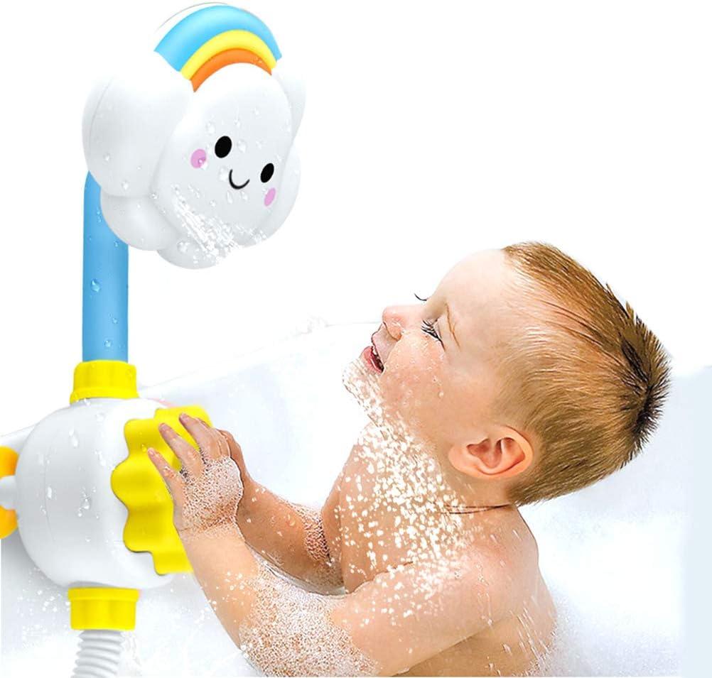 Badespielzeug Baby Wasserspielzeug f/ür Badezimmer f/ür Kinder und Babys ab 1 Jahr Spritztier Wasserrad Battat Badewannen Spielzeug mit Saugn/äpfen