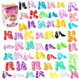 Rainbow Yuangou 50 Pairs Colorful Assorted Shoes for Barbie Doll with different style Fits 11.5 IN Barbie Doll