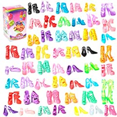 Great gift for children . Stylish design and easy to wear . Material: Silicone . Color: Multi color (Send at random color) . Various styles and colors on sale . Please note that our shoes fit for barbie dolls .