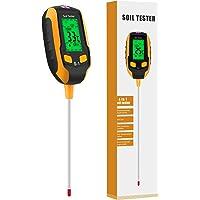 Esimen [Upgraded] 4-in-1 Soil PH Meter, Soil Tester Moisture with Light/PH/Temperatur, Digital Plant Thermometer Test…