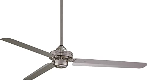 Minka Aire F729-BN Protruding Mount, 3 Brushed Nickel Blades Ceiling fan, Brushed Nickel