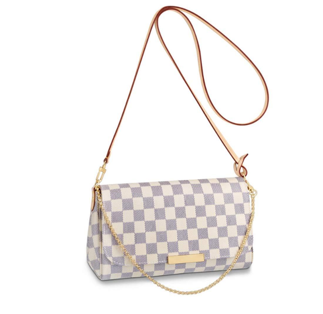 Women's Canvas Pochette Favorite MM Double-use Chain Flap Bag Small Crossbody Bag Shoulder Bag (white)