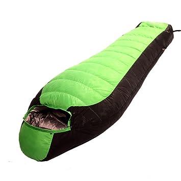 Addora Adulto Envuelto Abajo Saco De Dormir Pareja 1000g Temperatura Agradable 0 ℃,GreenAndBlack: Amazon.es: Deportes y aire libre