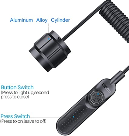 2Pcs LED Flashlight Push Button Switch ON// OFF Electric Torch Tail Switch  ZJMSF