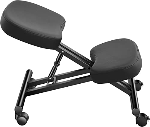 Luxmod Ergonomic Office Chair,Kneeling Desk Chair Black,Kneeling Chair