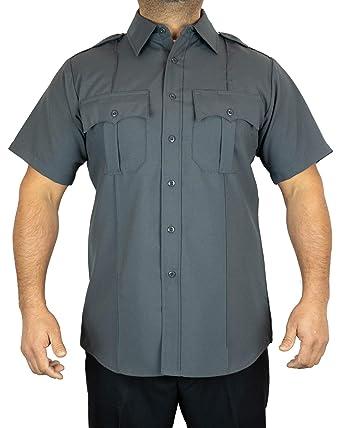 5ea225bfb96f Amazon.com: First Class 100% Polyester Short-Sleeve Men's Uniform Shirt  Dark Gray: Civil Service Uniforms Shirts: Clothing