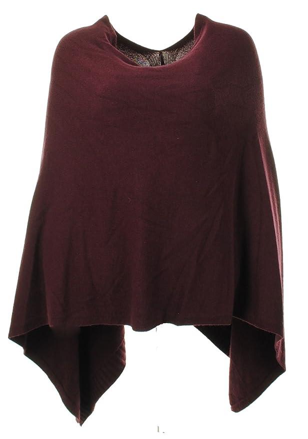 Ladies Italian Lagenlook Angora Wool Mix Knitted Draped Poncho Cape Wrap Shawl