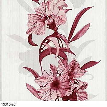 P S Fácil Schöner 13310 20 Papel Pintado Floral Flores Rojo
