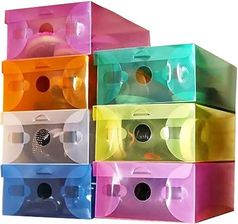 TrifyCore Caja de Zapatos Transparente de Plástico Color Clamshell Caja de Zapatos a Prueba de Polvo y Anti-oxidación 7 Paquetes (1 Cada uno): Amazon.es: Hogar