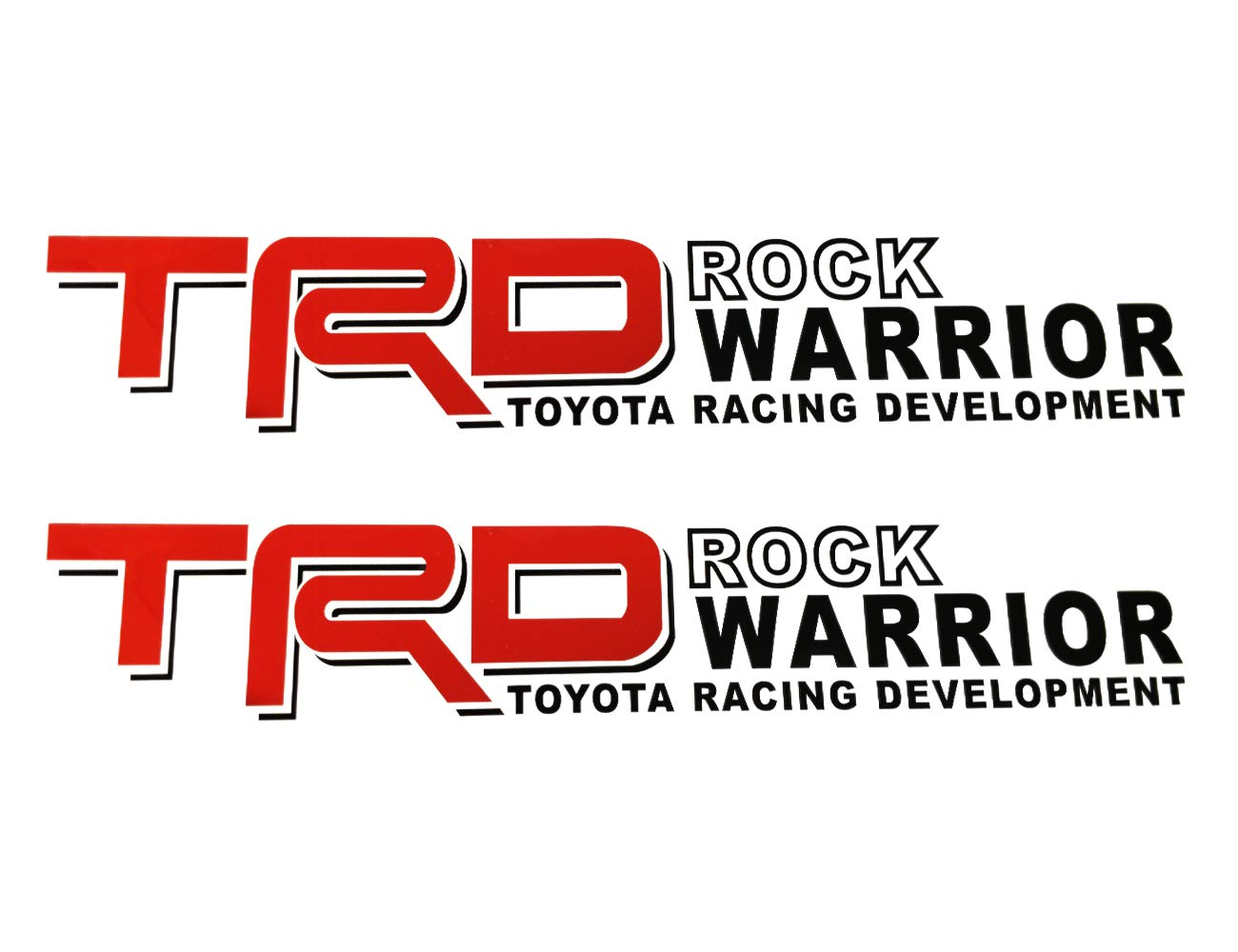 Neumaxx Compatible With TRD Red Die Cut Decals Vinyl Stickers Graphics Letters Toyota Racing Development For Truck Bed Pickup 4x4 Decoration Design ROCK WARRIOR