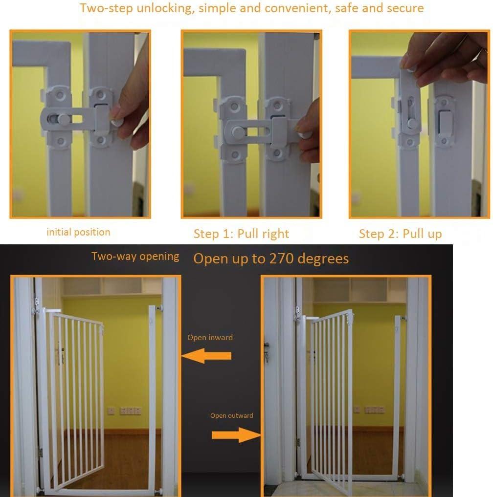 育児 ベビーゲート 階段戸口のために子犬ペットベビーサークルマウントされたホワイト室内セーフティゲートエクストラトールベビーゲート圧力 ベビーフェンス (Size : 139-145 cm)