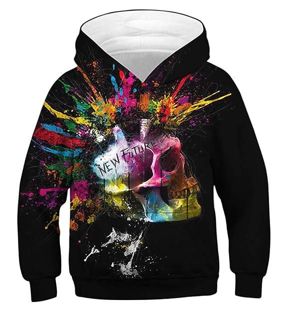 827c819fe2be Idgreatim Boys Girls Hoodie 3D Print Pullover Sweatshirts Hooded Jumpers  4-16Y  Amazon.co.uk  Clothing