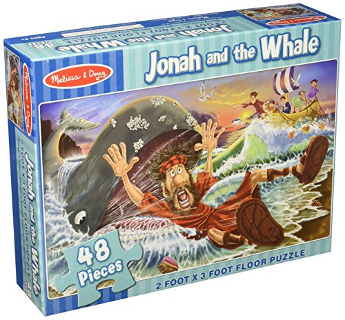 Melissa & Doug Jonah and the Whale Jumbo Jigsaw Floor Puzzle (48 pcs, 2 x 3 feet)