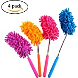 Microfiber Duster Extendable Long Reach Telescoping Detachable Cleaning Dusters 4 Pack CaRSun Cleaning Tool , Home, Office & Car Cleaning Supplies