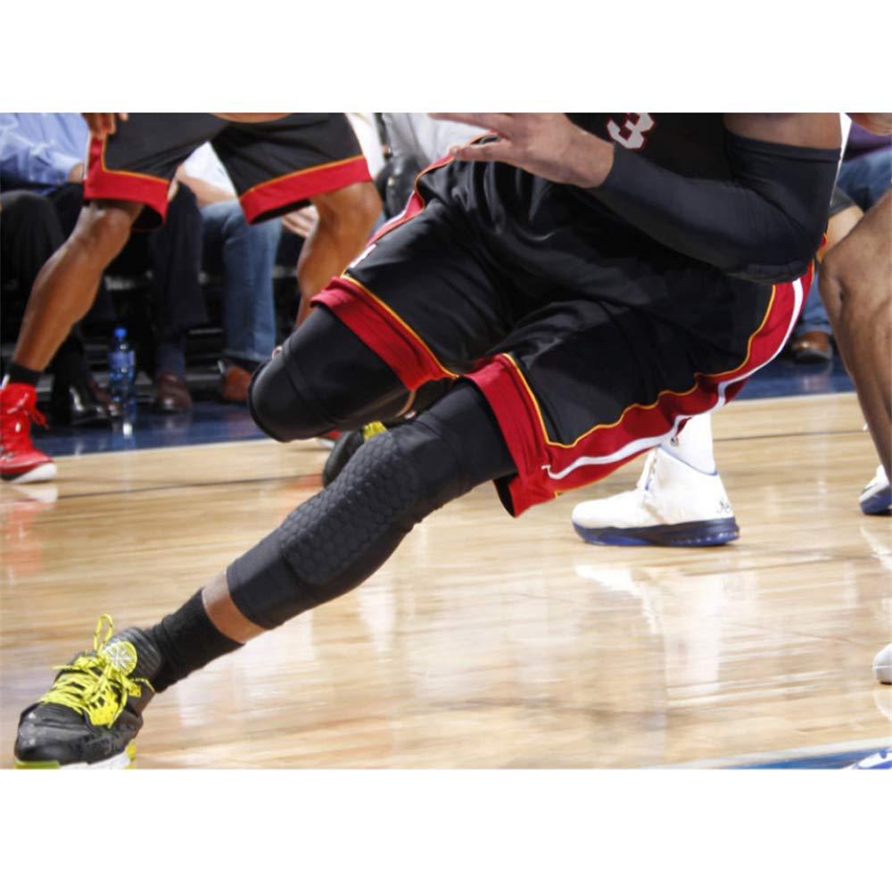 sfycstd Crashproof Rodilleras Protectoras para Las piernas Manga Larga Antislip Protecci/ón de Rodilla Protector Honeycomb Pad para Baloncesto Voleibol F/útbol 2 Piezas