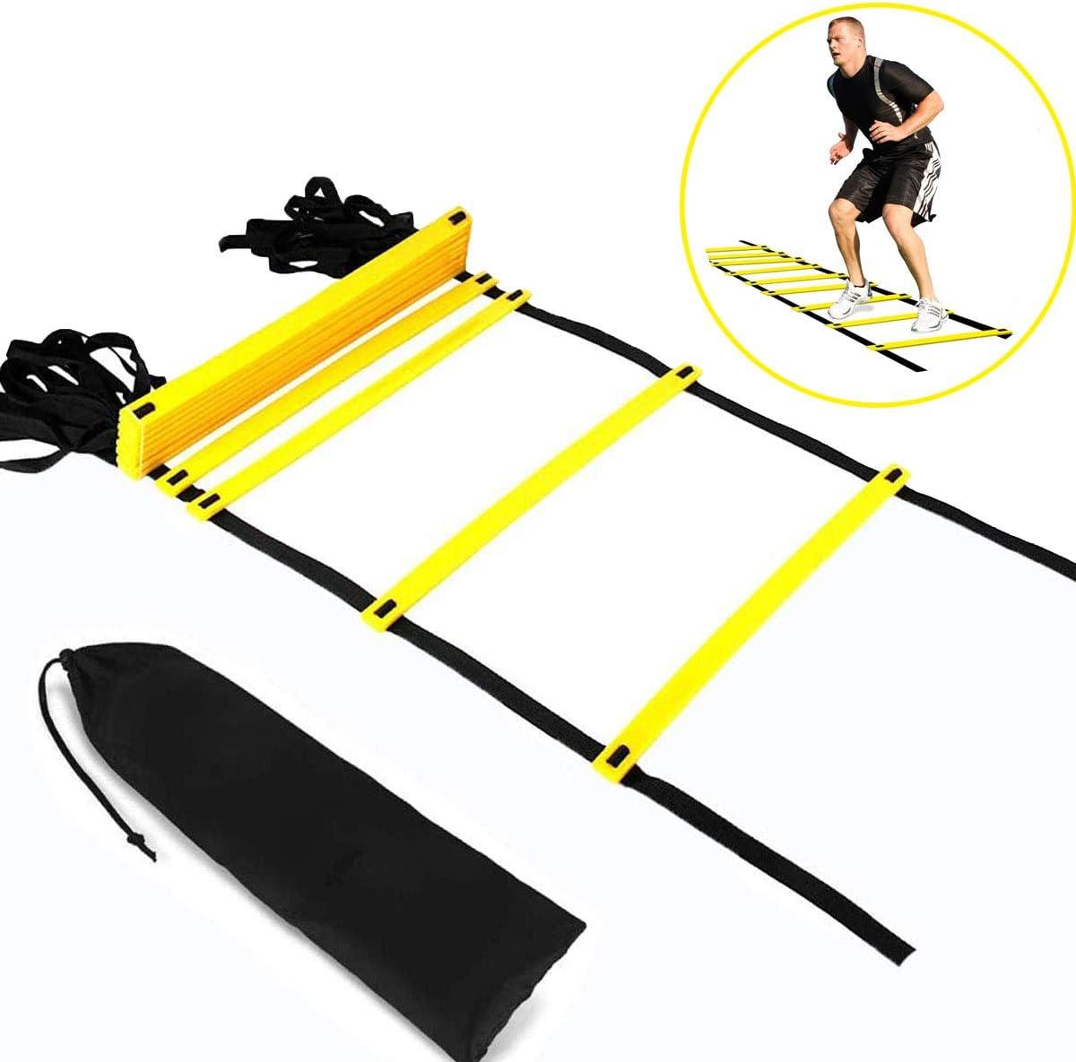 escaleras de agilidad para entrenamientos y circuitos físicos