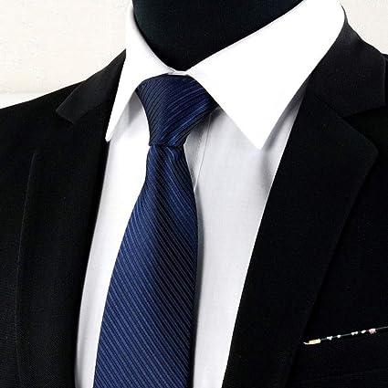 FAHFO Corbatas 8 Cm Hombre Ropa Formal, Corbata Negra Profesional ...