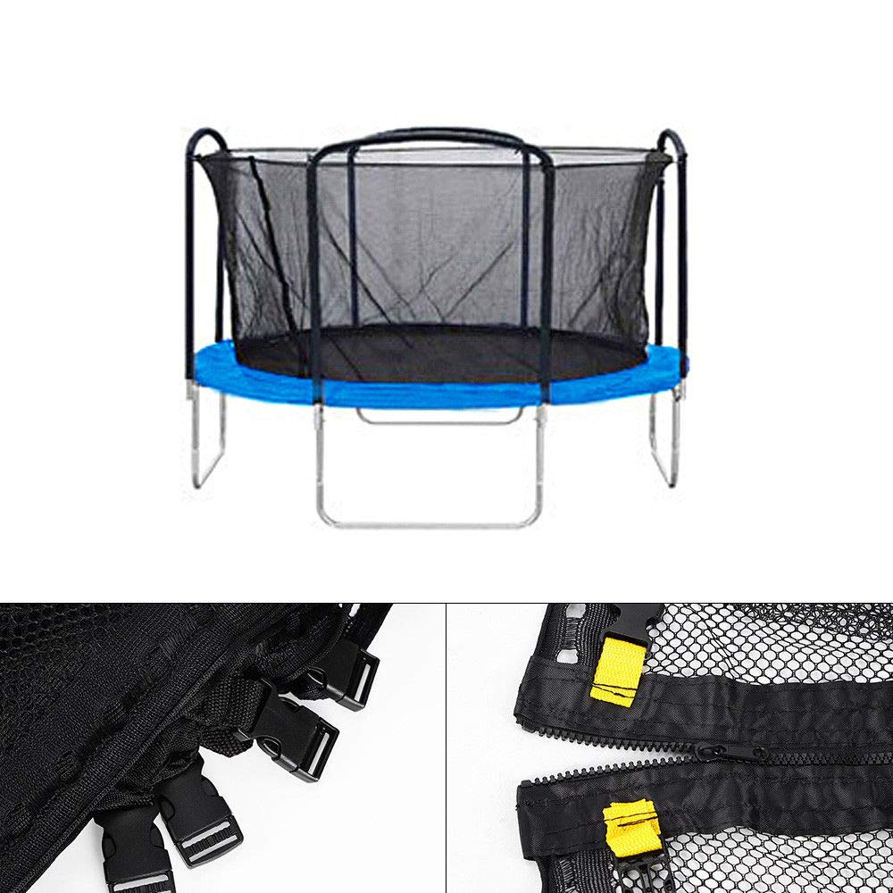 WUPYI Trampoline Safety Net,Replacement Trampoline Nets,Trampoline Enclosure Safety Net with 4 Arched Supports or 8 Poles for 12ft Trampoline,with Fixing Rope by WUPYI