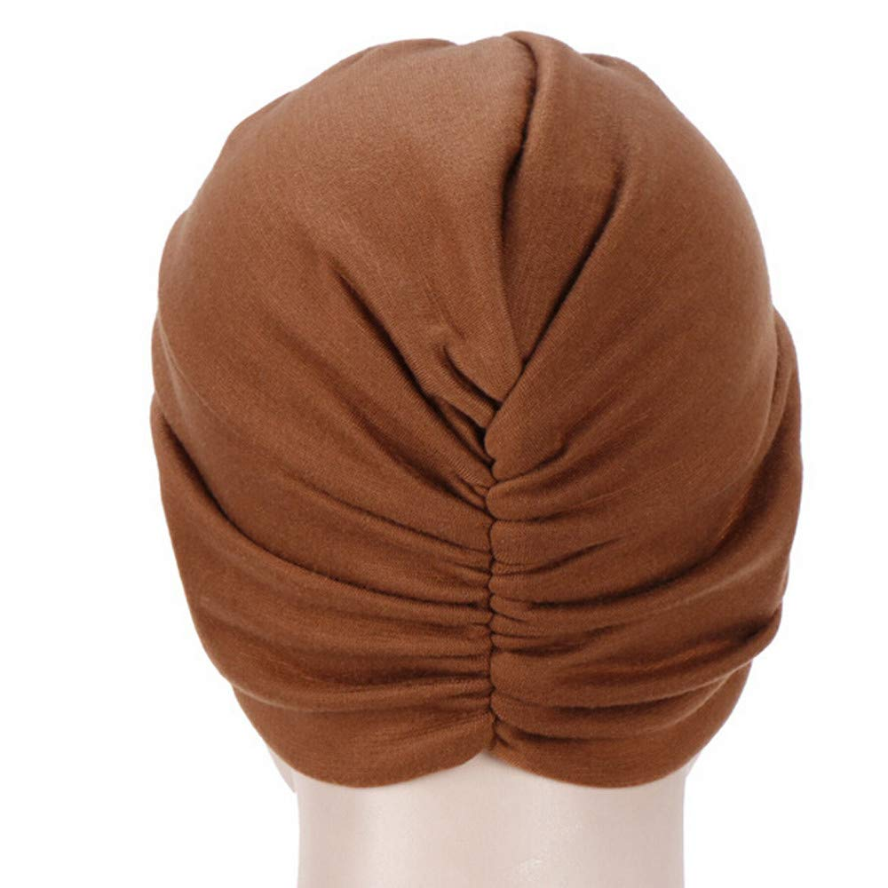 Zimuuy Frauen Beanie M/ütze,Indien Muslimischer Hut R/üsche Krebs Turban Wrap Cap Chemo Kopfbedeckung