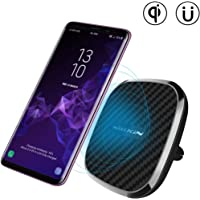 [10W Fast Charge] Nillkin 2-in-1 Qi Wireless Charging Pad & Magnetic Car Mount Air Vent Holder for iPhone Xs Max/XR/XS/X/8/8 Plus, Samsung Note 9/8/S9/S8/S8 Plus and More - Model A