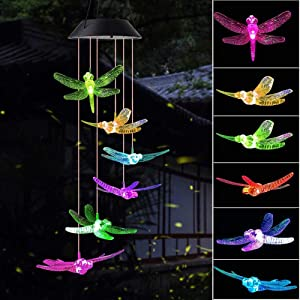 wind chimes outdoor, gifts for mom, solar wind chimes ,dragonfly wind chime ,solar mobile butterfly, mom gifts,birthday gifts for mom,gardening gifts, wind chimes solar,windchimes unique outdoor