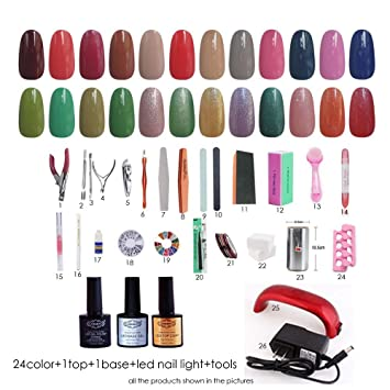 Amazon Nddn Nail Polish Set Gel Base And Top Coat Ledgel