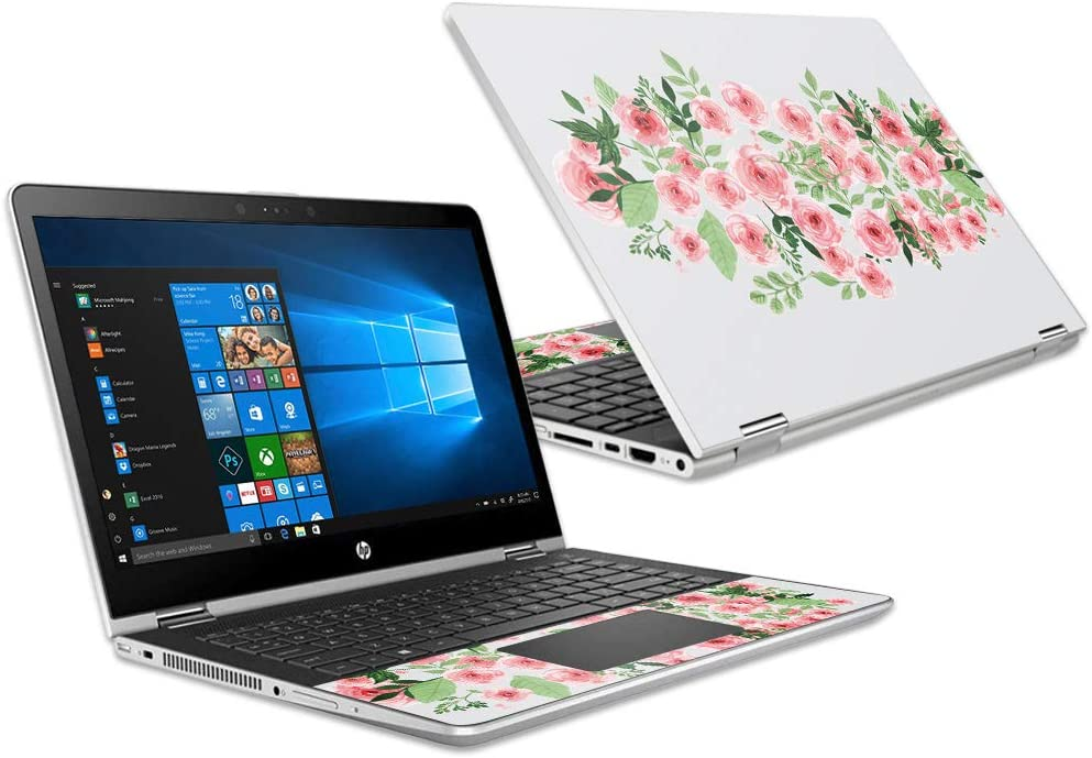 """Mightyskins Skin Compatible with Hp Pavilion X360 15.6"""" (2018) - Bouquet 