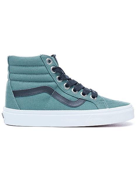 114a52a852f4 Vans SK8-Hi Reissue (Oversized Lace) Fashion Sneakers Silver Pine True  White Size 9 Men 10.5 Women  Amazon.ca  Shoes   Handbags
